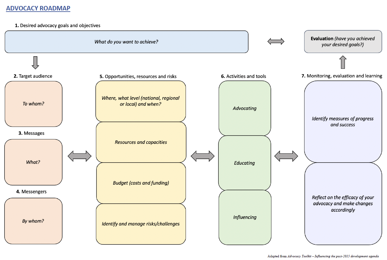 Advocacy roadmap diagram
