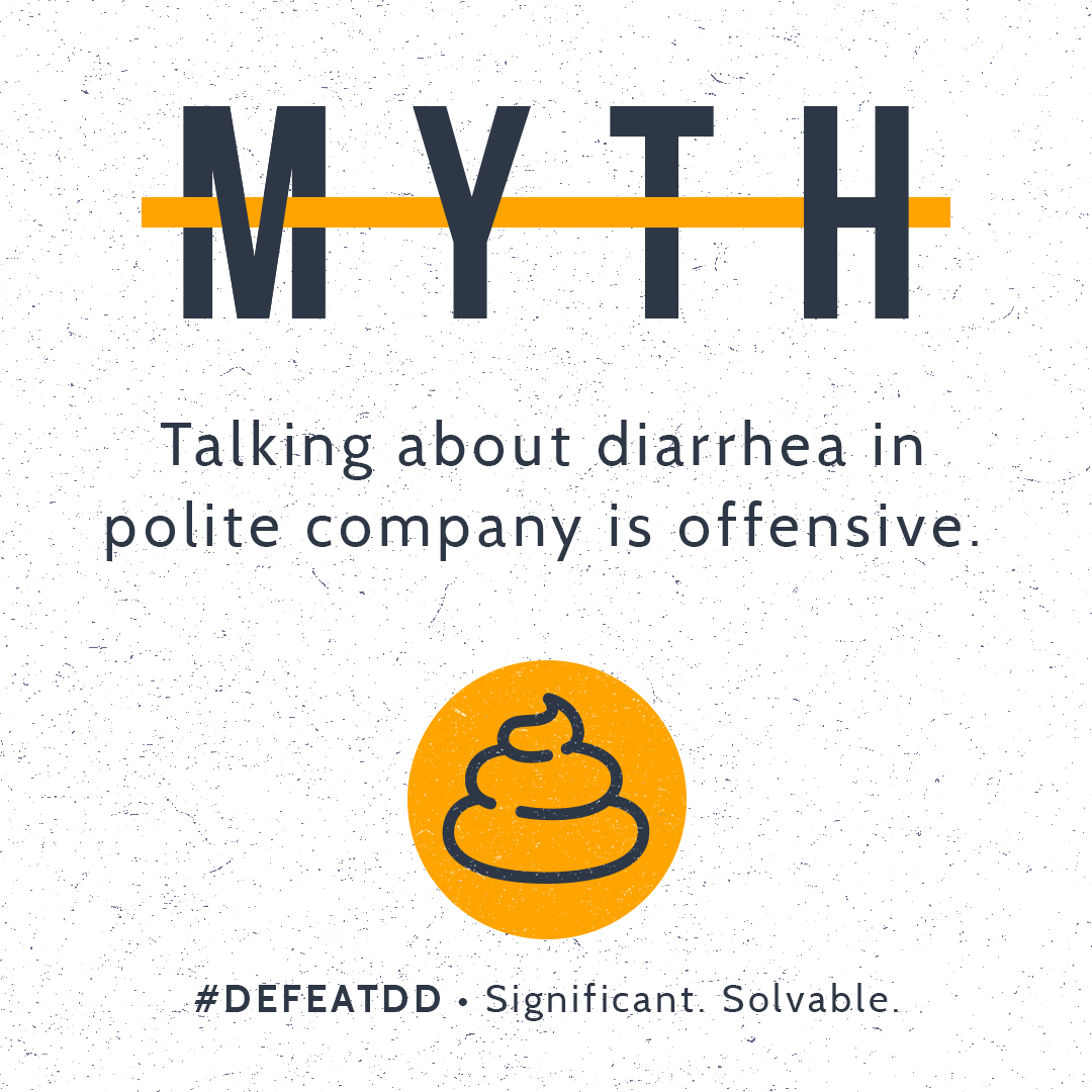 Myth: Talking about diarrhea is offensive
