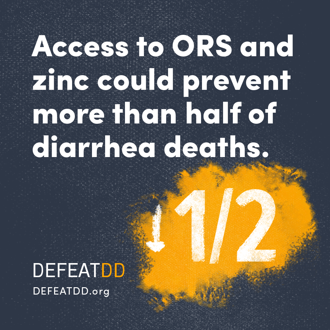 Access to ORS and zinc could prevent more than half of diarrhea cases