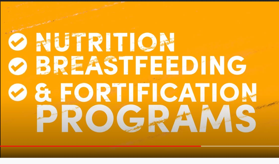 Video text: Breastfeeding, nutrition, and fortification programs