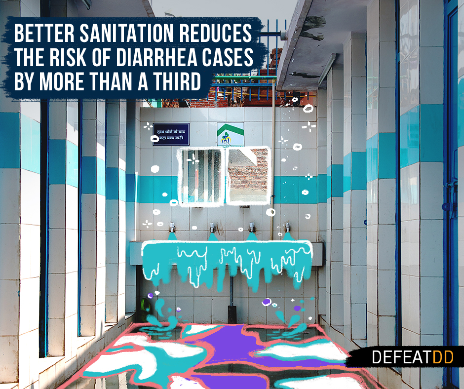 Better sanitation reduces the risk of diarrhea by more than a third