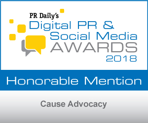 PR Digital Awards Cause Advocacy Honorable Mention