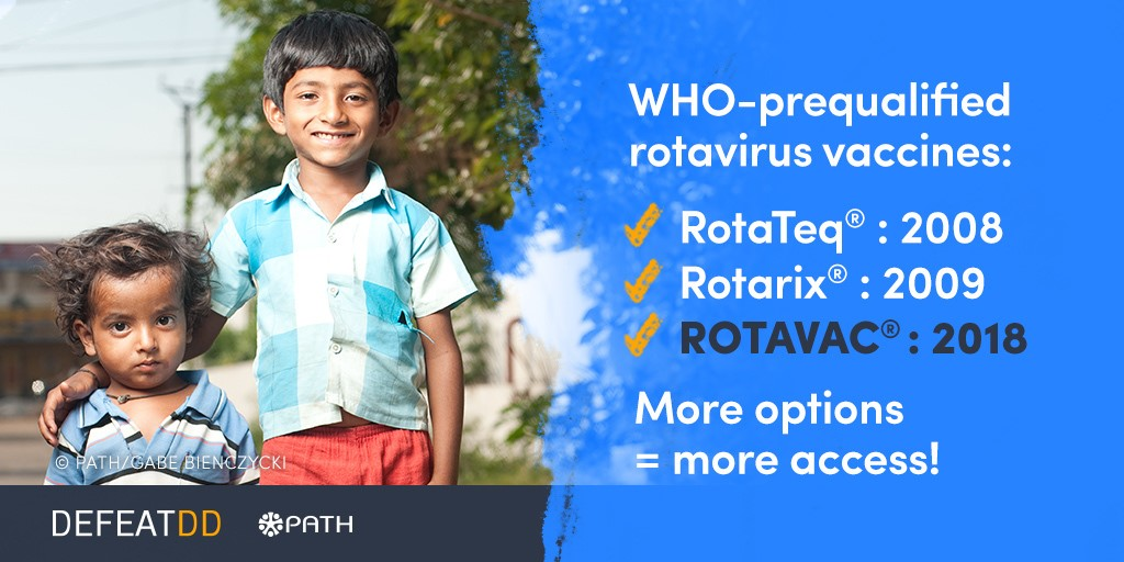 List of three WHO prequalified rotavirus vaccines, ending with ROTAVAC
