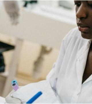 An African nurse at work