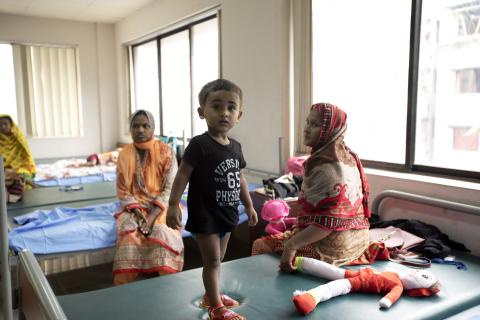 Young boy at a hospital in Bangladesh